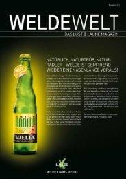 WeldeWelt Ausgabe 1/2012 - Weldebräu GmbH & Co KG
