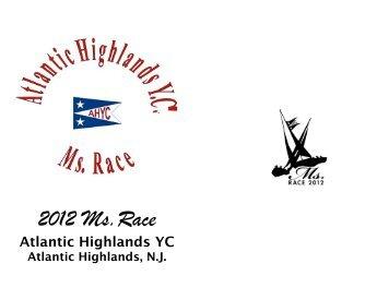 Ms Race Sponsor Book 2012 final - Atlantic Highlands Yacht Club