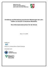 Ermittlung und Beurteilung psychischer Belastungen bei Lehr ...