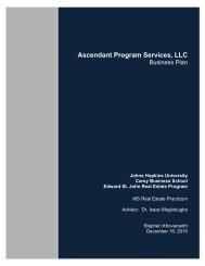 Ascendant Program Services, LLC - JScholarship - Johns Hopkins ...