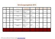 schulungsangebote 2013 - bei der Schornsteinfeger-Innung in Berlin