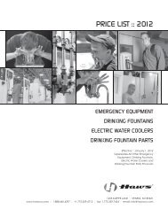 Price List: Emergency Equipment - Clarkson Laboratory and Supply