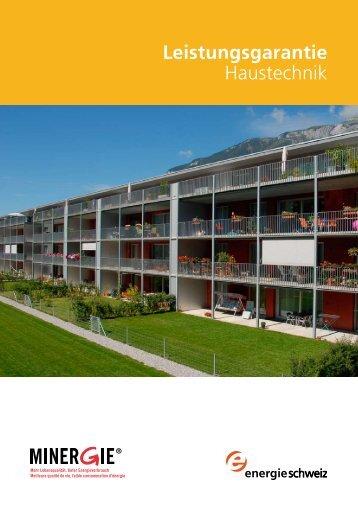Leistungsgarantie Haustechnik - Bundesamt für Energie BFE