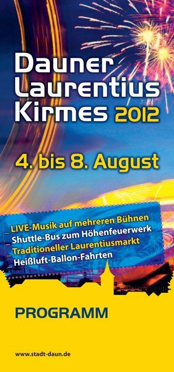 Dauner Laurentius Kirmes 2012