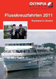 Russland & Ukraine Flusskreuzfahrten 2011 - Olympia-Reisen
