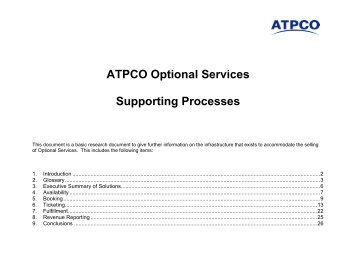 Optional Services Supporting Processes - atpco