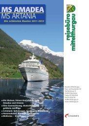 MS AMADEA MS ARTANIA - Baumann Cruises