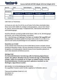 Download Service-Heft MS/ASTOR für Reisen von - TransOcean
