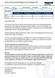 Download Buchungsformular ASTOR für Reisen ab ... - TransOcean