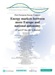 Energy markets between more Europe and national autonomy