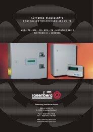 Regelungstechnik Klimageräte - Rosenberg Ventilatoren GmbH