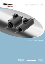 Magnetic SySteMS HigH POWeR Line - Kendrion