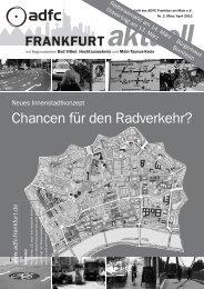 Frankfurt aktuell - Ausgabe 2 (März/April) / 2010 - ADFC Frankfurt
