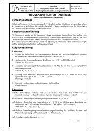 Frequenzumrichter-Antrieb - Fachhochschule Bielefeld