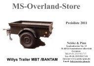 MS Overland Store Preisliste 2011 Neiske & Pinn Sendenhorster Str ...