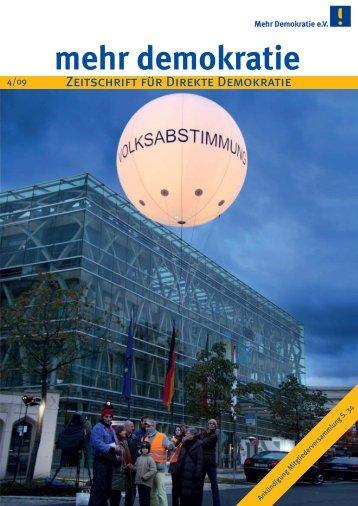 gesamte Ausgabe herunterladen - Mehr Demokratie eV