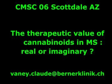 Marijuana, Cannabinoids and MS