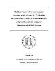 Multiple Sklerose: Untersuchung der Apoptosehäufigkeit und der ...