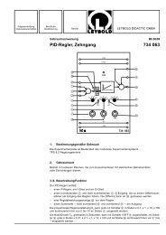 PID-Regler, Zehngang 734 063 - LD DIDACTIC