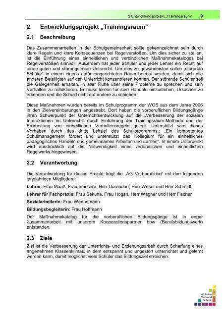 Umfrage zum Trainingsraum Mach mit! - OSZ Farbtechnik und ...