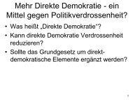 Mehr Direkte Demokratie - ein Mittel gegen ... - Kai Arzheimer