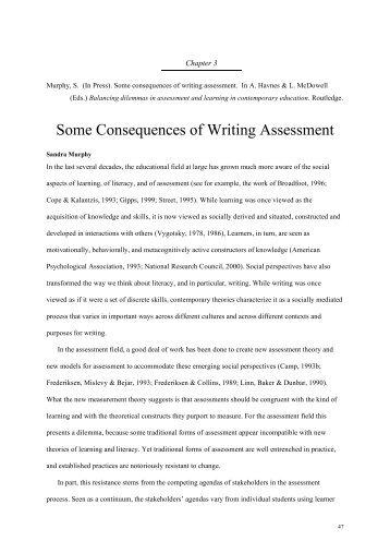 Writing center assessment