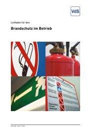 Brandschutz im Betrieb - VdS
