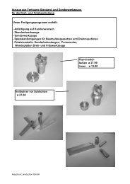 Standard- und Sonderwerkzeuge - Haupt cnc production GmbH
