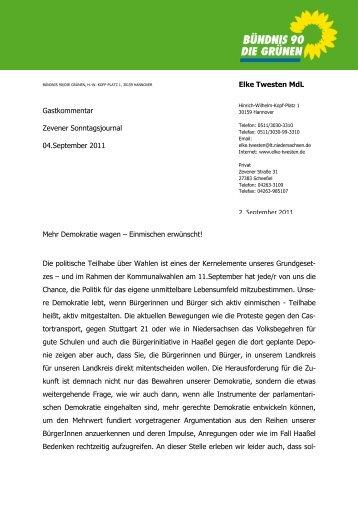 Mehr Demokratie wagen 04092011 1 - Elke Twesten