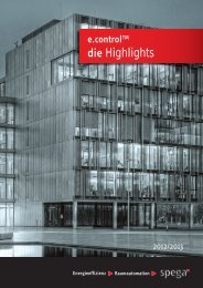 e.control Highlights 2012 - spega.de