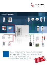 Das HybriD-GefaHrenmelDesystem complex 200H ... - TELENOT