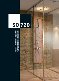 Glass Shower System SO 720 - Prätzlich Team Profi Glas GmbH
