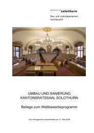 UMBAU UND SANIERUNG ... - Kanton Solothurn