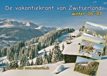 De vakantiekrant van Zwitserland winter '06-'07 - Clarezia