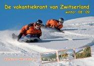 De vakantiekrant van Zwitserland winter '08-'09 - Clarezia