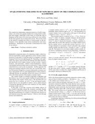 ON QUANTIFYING THE EFFECTS OF NONCIRCULARITY ... - UMBC