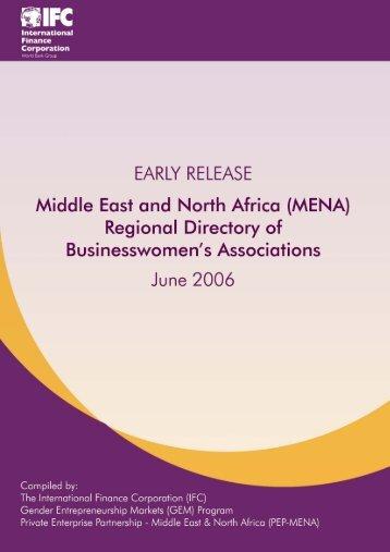 (MENA) Regional Directory of Businesswomen's Associations - IFC