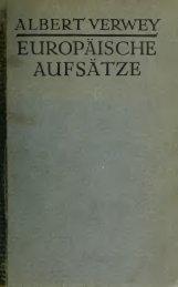 Europäische Aufsätze;