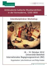 Variation von Zeitplan b) - Universität Bielefeld