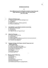 5 Inhaltsverzeichnis - Stadt Hattersheim