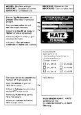 Liste des piéces de rechange ~ - bei HATZ - Seite 3