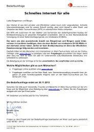 Schnelles Internet für alle - Stadt Hattersheim