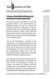 Presse-Information - Stadt Hattersheim