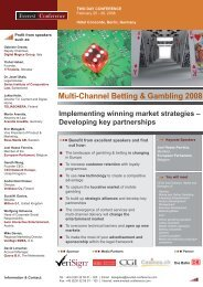 Multi-Channel Betting & Gambling 2008 - Casinos.ch