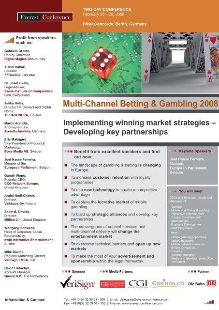 Multi-Channel Betting & Gambling 2008 - Casinos.ch