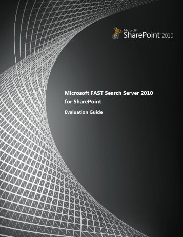Microsoft FAST Search Server 2010 for SharePoint - Arcovis