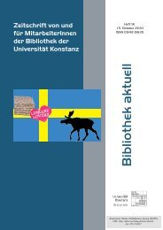 Bibliothek aktuell. Heft 91, 2010 - KOPS - Universität Konstanz