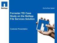 Forrester TEI Case Study on the NetApp File Services ... - Hatahet