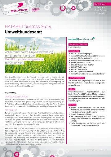 Success Story Umweltbundesamt SP 2007 Projektportal ... - Hatahet