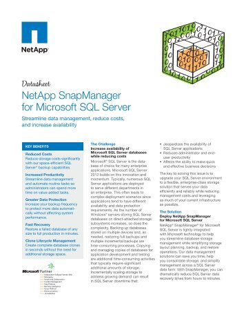 NetApp SnapManager for Microsoft SQL Server - Download Center ...